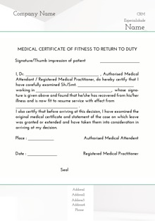 Custom Medical Certificates Printing Online