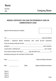 example of medical certificate for sick leave