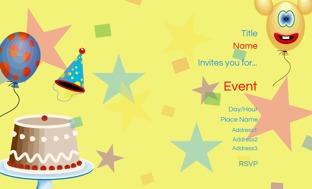 Children Birthday Invitation Cards