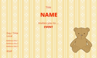 Children Birthday Invitation Cards