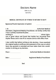 Custom medical certificates letter templates print medical design by printvenue yadclub Images