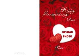 Anniversary Greetings Personalize Greeting Cards At Printvenuecom
