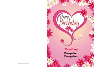 Happy birthday cards birthday invitation or greeting cards customize bookmarktalkfo Image collections