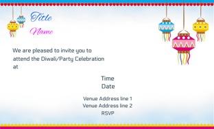 Diwali Invitation Cards Personalized Diwali Invitation Cards