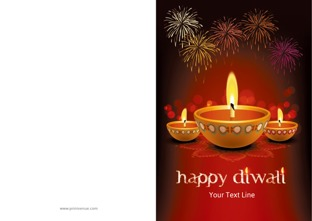 Diwali greeting cards customized diwali greetings cards printvenue design by printvenue m4hsunfo