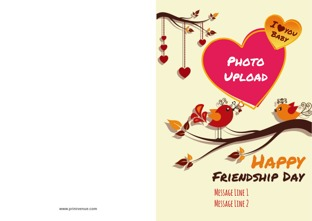 Friendship Card Template | Personalize Friendship Cards Online Greeting Cards For Friendship Day