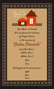 Griha pravesh invitations @Printvenue | Personalize ...
