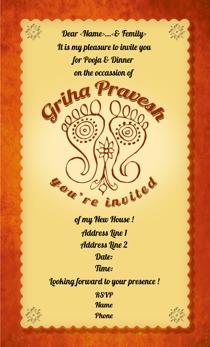 Griha pravesh invitations Printvenue Personalize invitations at