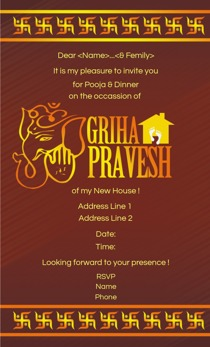 Griha pravesh invitations printvenue personalize invitations at design by printvenue stopboris Image collections