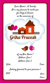 Griha pravesh invitations printvenue personalize invitations design by printvenue stopboris Choice Image