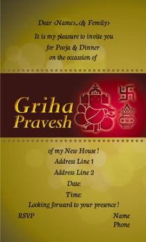 Griha Pravesh Invitations Printvenue Personalize