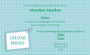 Buy Mundan Invitations in bulk Personalized Invitations Online