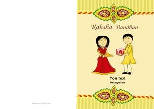 graphic about Raksha Bandhan Printable Cards identify Raksha Bandhan GreetingsRaksha Bandhan Playing cards