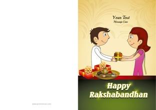 graphic relating to Raksha Bandhan Printable Cards identify Raksha Bandhan GreetingsRaksha Bandhan Playing cards
