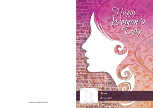 Personalized womens day greeting cards design by printvenue m4hsunfo