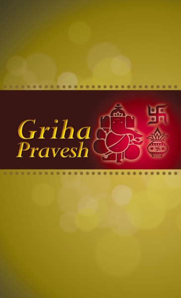Griha pravesh invitations printvenue personalize invitations at design by printvenue stopboris Image collections