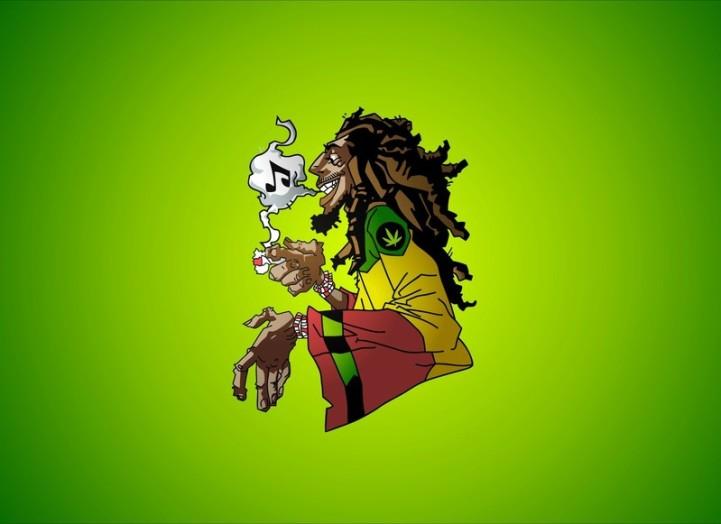 Laptop Skin 156 Inchesfunky Bob Marley Weed20140826154000
