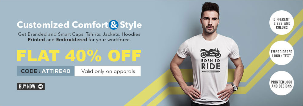 Get Upto 40% Off On Personalized Apparels