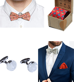 Cufflink , Bow Tie , Tie<br> and Pocket Square