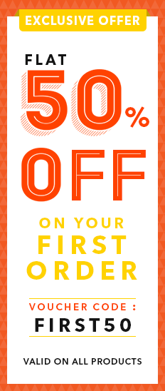 Flat 50% off on your First Order low price