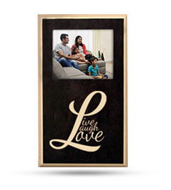 Photo Frame Wooden Plaque - Vertical