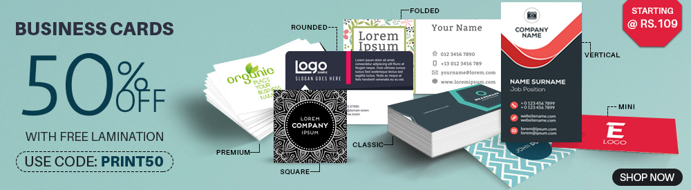 Corparte Business Cards, 7 sizes avilable