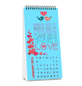 Desk Calendar 5.5 x 11 Inches