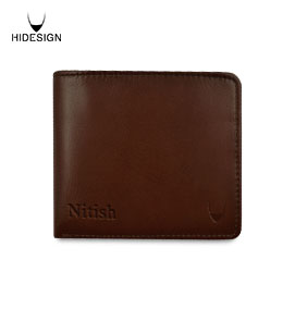 Hidesign Men Wallet Brunette
