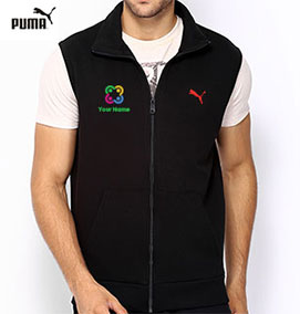 Puma Sleeveless Sweat Jacket Black